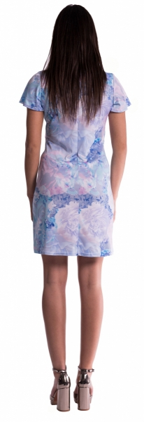Be MaaMaa Těhotenské šaty s květinovým potiskem s mašlí  - červené