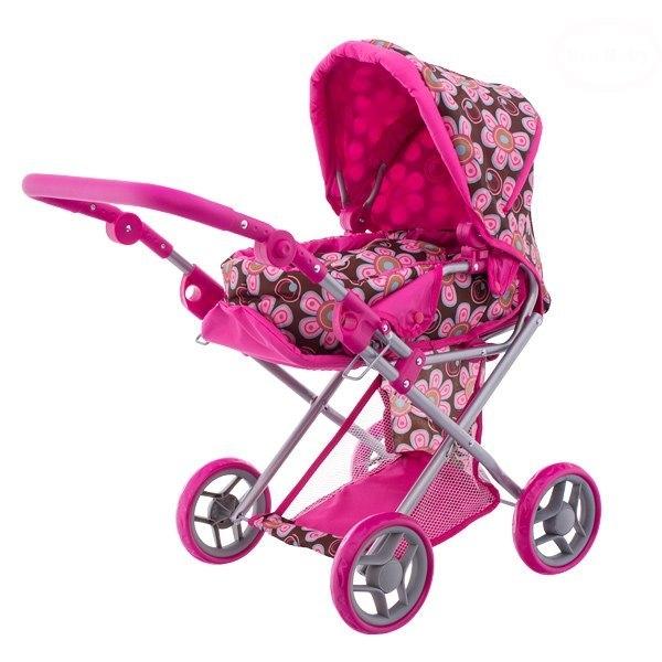 Euro Baby Kombinovaný kočárek pro panenky - Flowers