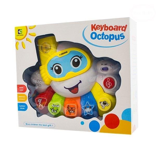 Euro Baby Interaktivní hračka s melodií - Keyboard Chobotnice