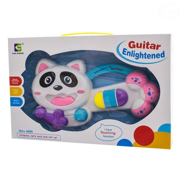 Edukační hrající hračka - kytara - Kočička