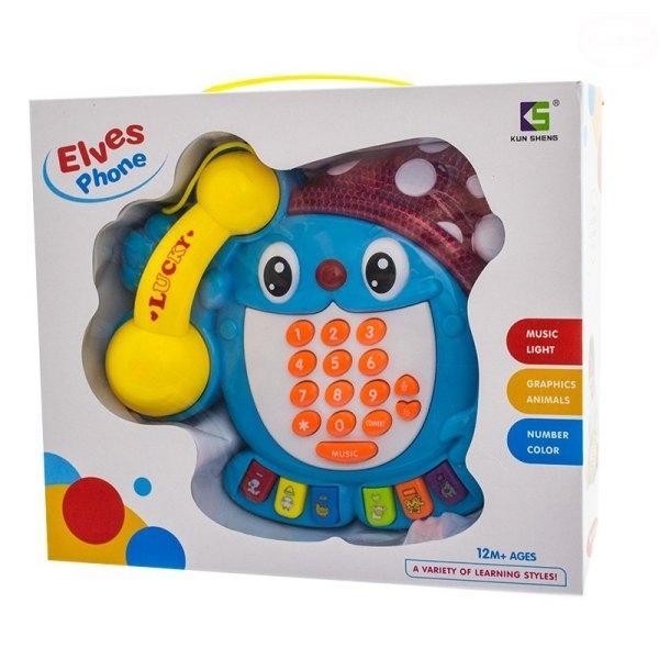 Edukační hračka Telefon - Skřítek - modrý