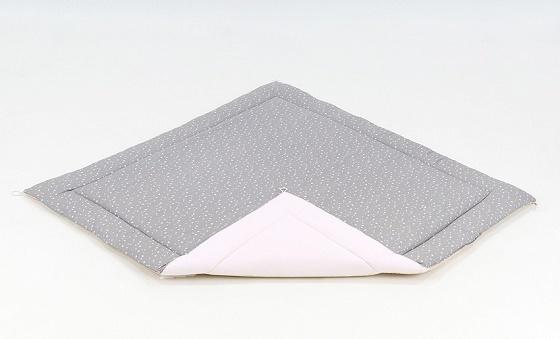 Mamo Tato Hrací, přebalovací podložka 120x120cm -šedá/mini hvězdičky bílé-béžová