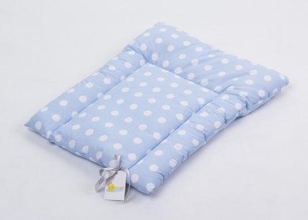 Přebalovací podložka 70x50cm - modrá/bílé puntíky
