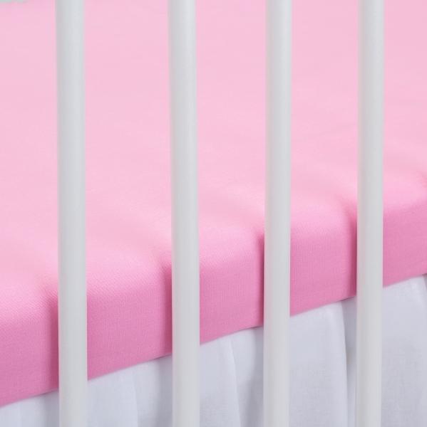 Bavlněné prostěradlo - sv. růžové