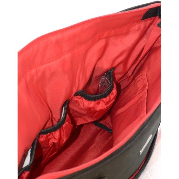 Euro Baby Přebalovací taška ke kočárku - černá/červený zip