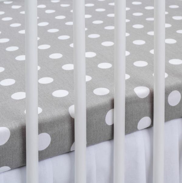 Bavlněné prostěradlo - šedé/bílé puntíky