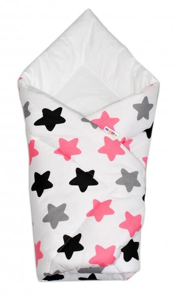 Zavinovačka Klasik - Barevné hvězdičky - růžové