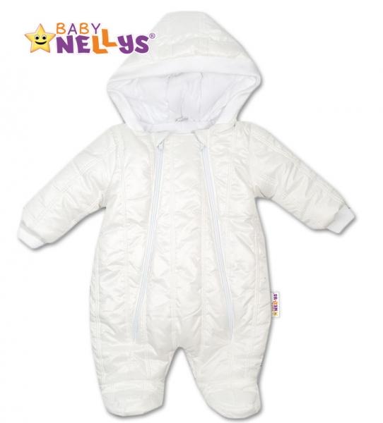 Kombinézka s kapuci Lux Baby Nellys ®prošívaná - bílá, vel. 62, Velikost: 62 (2-3m)