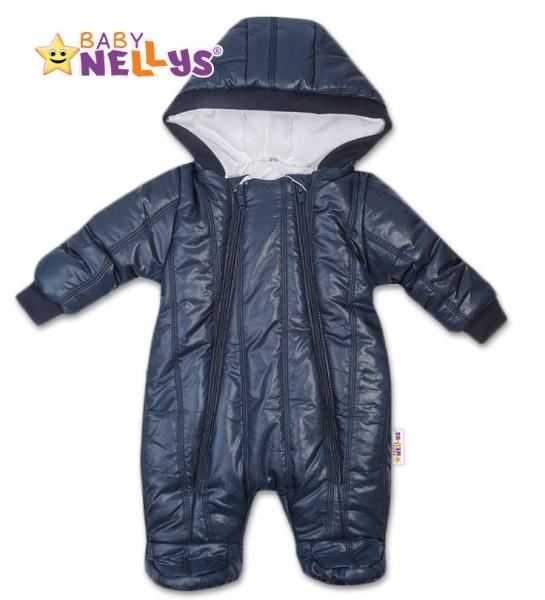 Kombinézka s kapuci Lux Baby Nellys ®prošívaná - granát, vel. 68