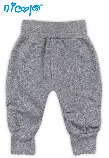 Tepláčky, kalhoty SRDÍČKA - šedá, Velikost: 62 (2-3m)