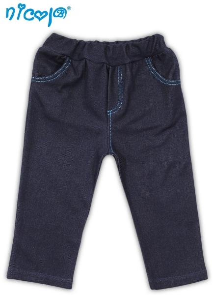 Nicol Tepláčky, kalhoty TUČŇÁK - jeansovável. 56 (1-2m)