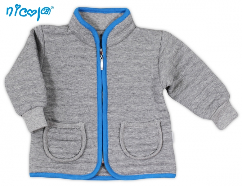 Kabátek/mikinka NICOL TUČŇÁK - 3D pruhy