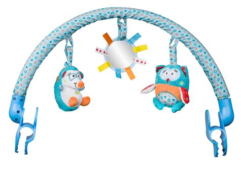 BabyOno Oblouk s hračkami - Charlie a Hannah