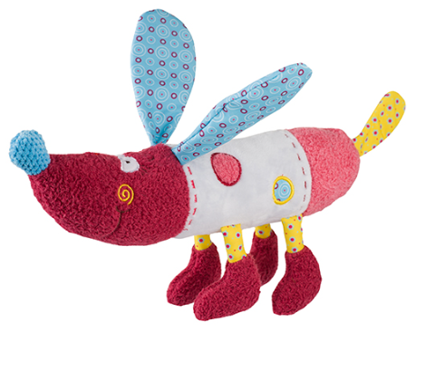 BabyOno Edukační hračka - chrastítko - Pejsek Rob