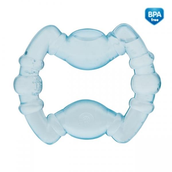 Kousátko vodní, chladící Canpol Babies - Geometrické tvary - sv. modré