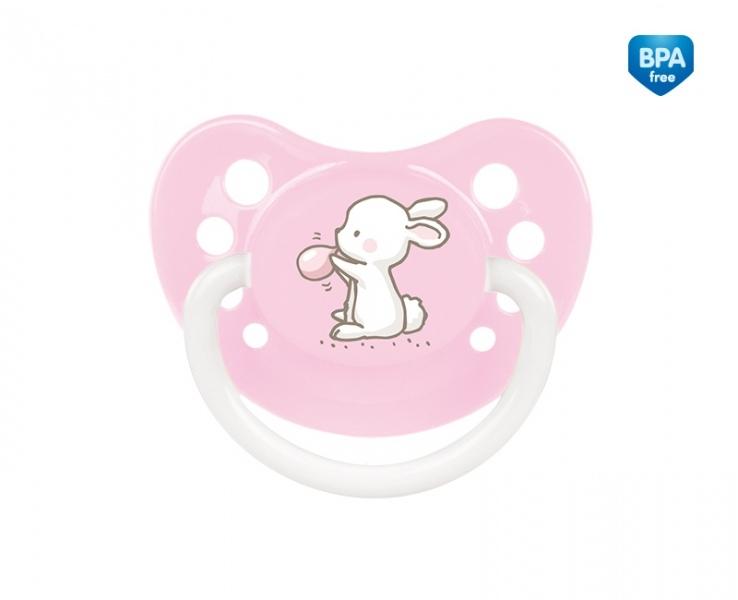 Dudlík anatomický, silikonový Canpol Babies 0-6m A, Little Cutie -sv. růžový