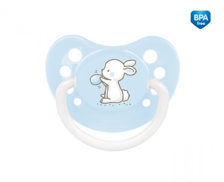 Dudlík anatomický Canpol Babies 6-18m B, Little Cutie - bledě modrý