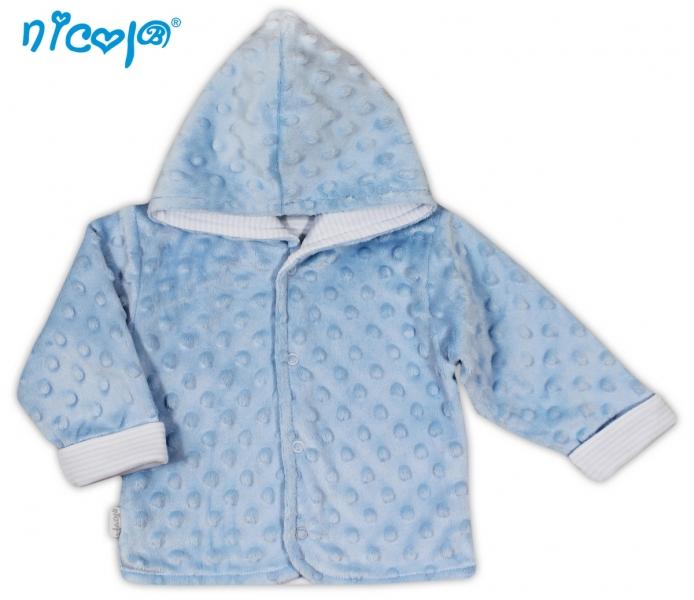 Kabátek/bundička NICOL VESELÝ SLONÍK v modré - MINKY