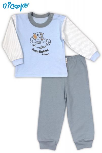 Bavlněné pyžamko NICOL VESELÝ SLONÍK