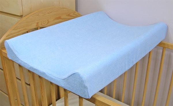 Jersey potah na přebalovací podložku, 70cm x 50cm  - modrý
