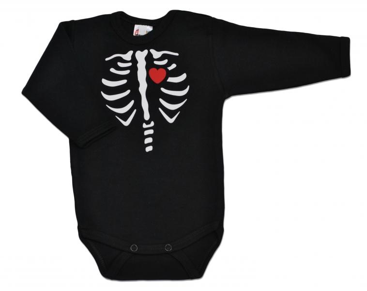 Baby Dejna Body dlouhý rukáv RED HEART- černé, vel. 68