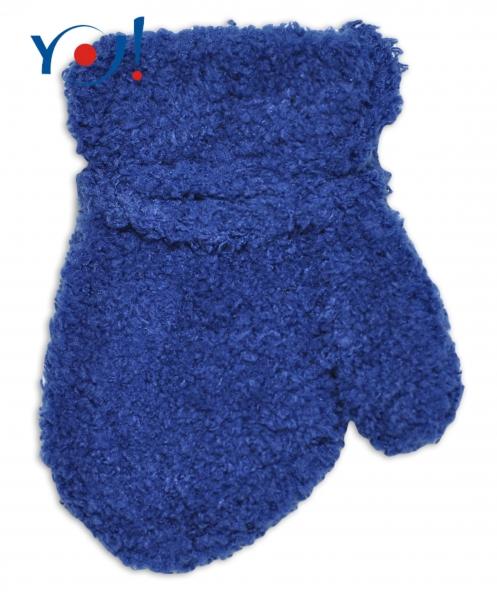 Zimní kojenecké chlapecké froté rukavičky YO - inkoustové