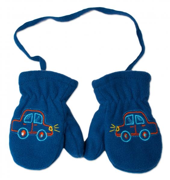YO !  Zimní kojenecké polarové  rukavičky YO - tm. modré