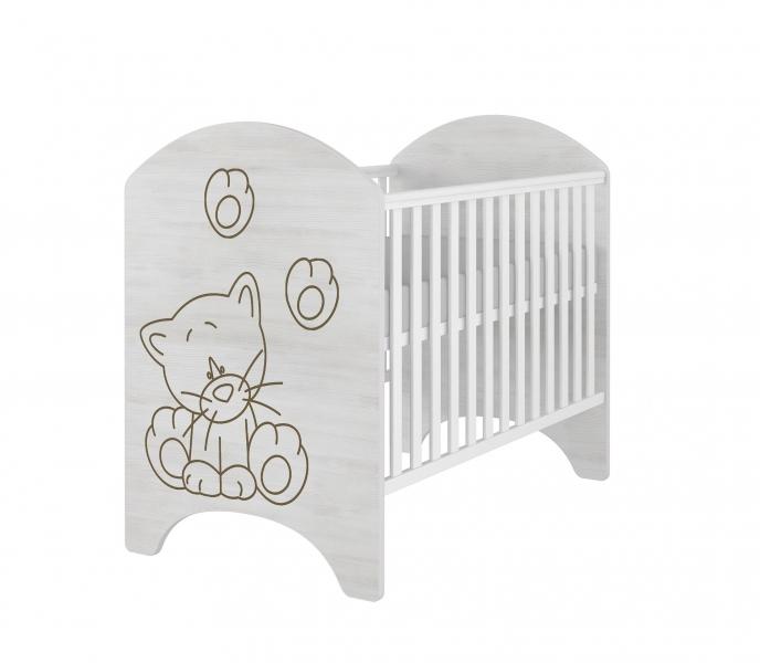BabyBoo Dětská postýlka LUX s výřezem KOČIČKA 120x60cm
