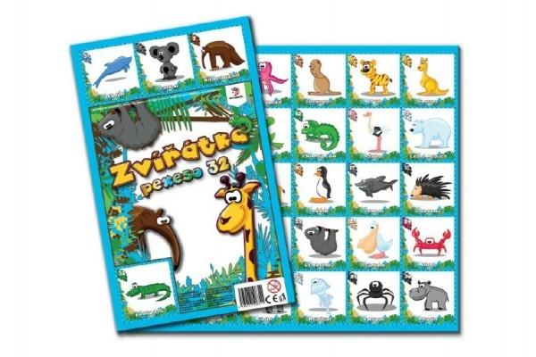 Pexeso 32 malovaná zvířátka společenská hra