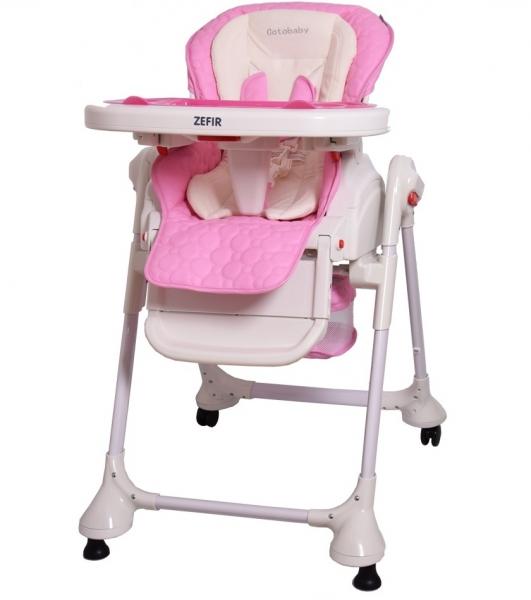 Coto Baby Jídelní židlička a houpačka 2v1 Zefir 2019 - růžova