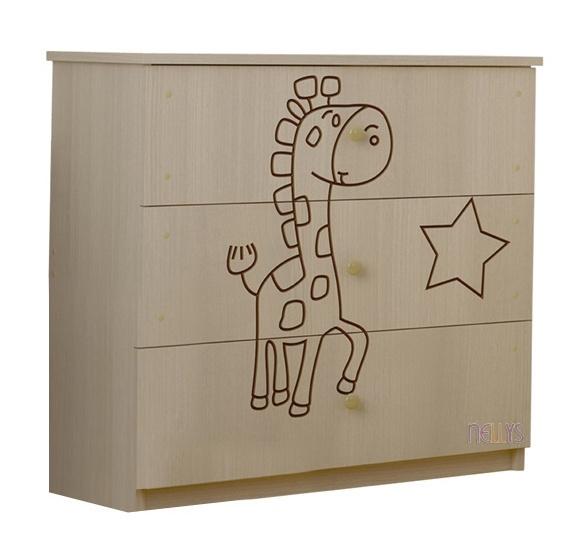 BabyBoo Dětská komoda - Žirafka