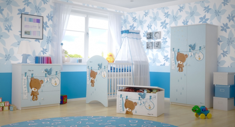 BabyBoo Dětská komoda - Medvídek UŠÁČEK, D19