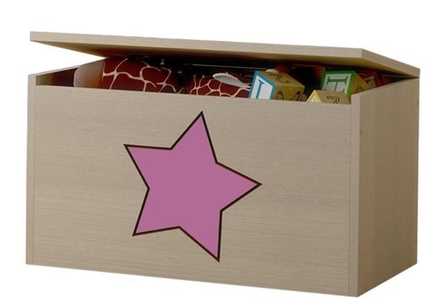 BabyBoo Box na hračky, truhla s růžovou hvězdičkou ke kolekci Žirafka