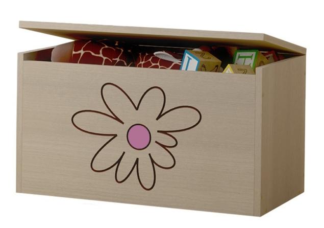 BabyBoo Box na hračky, truhla Květinka růžová