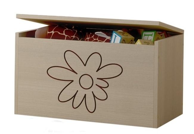 BabyBoo Box na hračky, truhla Květinka