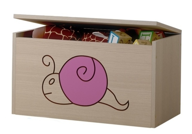 BabyBoo Box na hračky, truhla Šnek růžový
