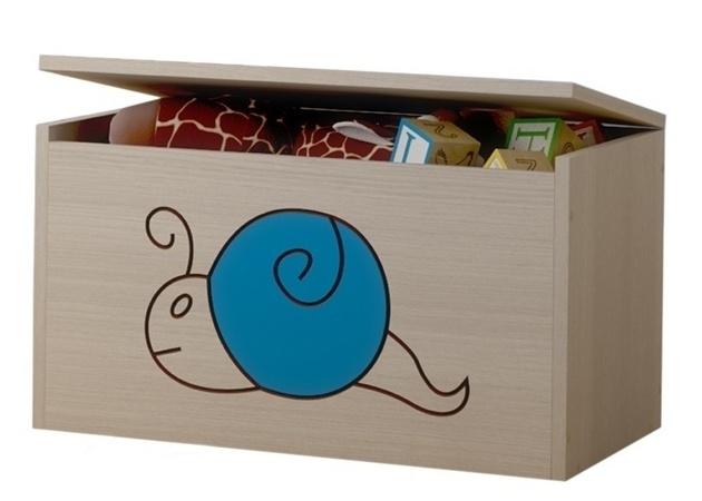 BabyBoo Box na hračky, truhla Šnek modrý