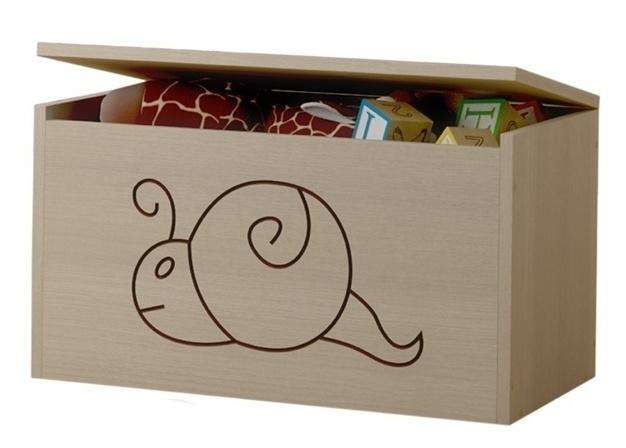 BabyBoo Box na hračky, truhla Šnek - přírodní