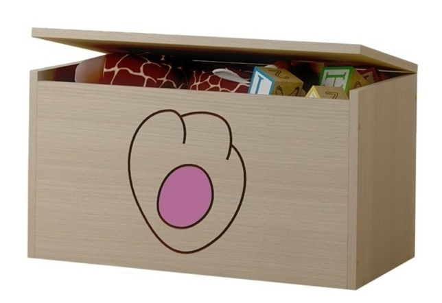 BabyBoo Box na hračky, truhla Kočičí packa - růžová