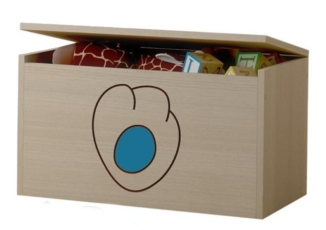 BabyBoo Box na hračky, truhla Kočičí packa - modrá