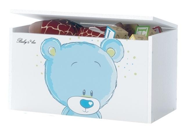 BabyBoo Box na hračky, truhla Medívek STYDLÍN modrý, D19