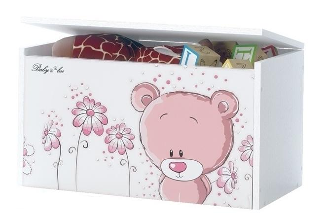 BabyBoo Box na hračky, truhla Medívek STYDLÍN růžový, D19