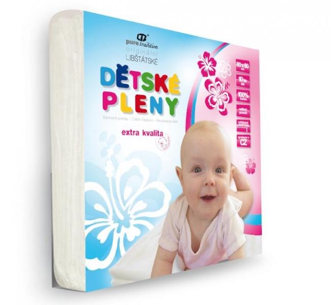Extra kvalitní dětské pleny 80x80 cm - bílé