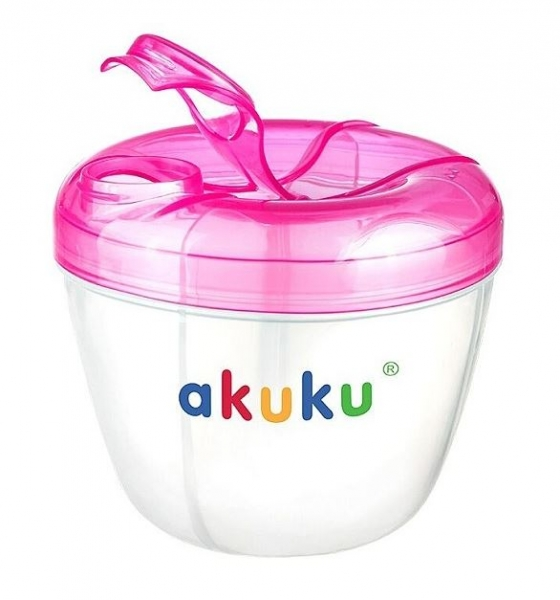 Dávkovač sušeného mléka v prášku AKUKU - růžový