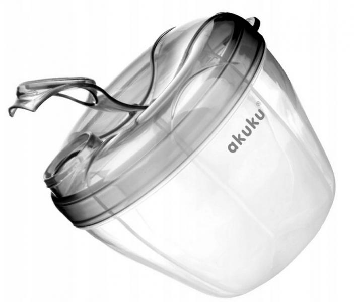 Dávkovač sušeného mléka v prášku AKUKU - šedý