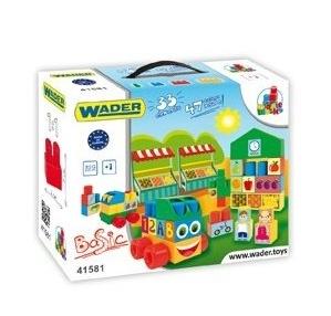 Kostky middle blocks  Wader + nálepky - 33 dílků