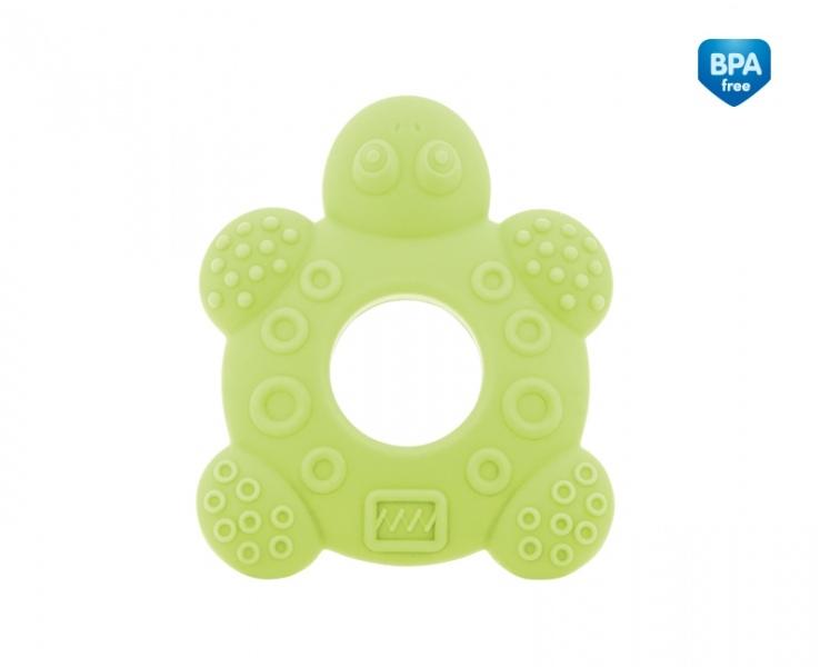 Kousátko silikonové Canpol Babies - Želvička - zelené