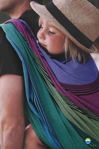 Little FROG Tkaný šátek na nošení dětí - TENORITE - XL