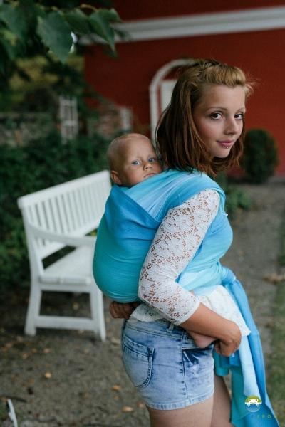 Little FROG Tkaný šátek na nošení dětí - EUCLASE