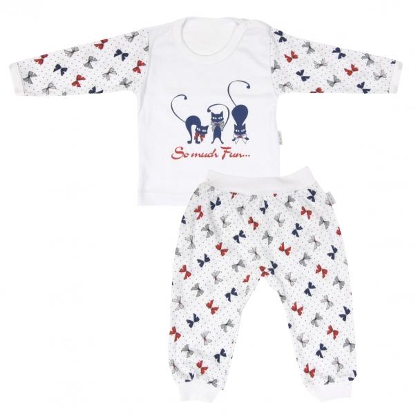 Bavlněné pyžamko Mamatti Kočička MAŠLIČKA
